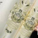 欧式大马士革风格刺绣墙布