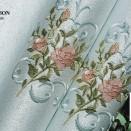 字母花朵儿童房墙布